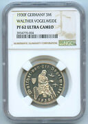 Germany Weimar Silver Proof 3 Reichsmark 1930 F Ngc Pf62 Ultra Cameo