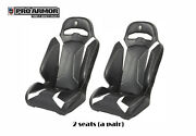 Pro Armor Le Racing Bucket Front Suspension Seat Pair 2x P141s188wh White