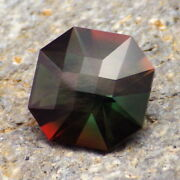 Green-red Neige Oregon Sunstone 5.42ct Flawless-precision Amandeacutericain Faceting