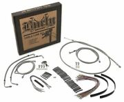 Burly Brand B30-1081 - 18-inch Braided Cable/line Kit For Harley-davidson