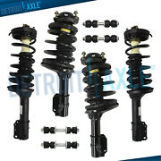 Ford Escort Mercury Tracer Struts Assembly + Sway Bar Links For 4 Front And Rear