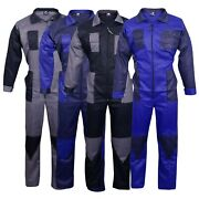 Menand039s Coveralls Boiler Suit Overalls For Warehouse Garages Workers Mechanics