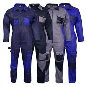 Menand039s Coveralls Boiler Suit Overalls For Warehouse Mechanics Work Wears