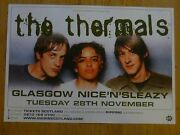 The Thermals - Glasgow Nov.2006 Live Music Show Tour Concert Gig Poster