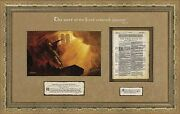 Arnold Friberg The Word Of The Lord A/p Framed Authentic King James Bible Page