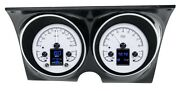 1967 1968 Chevrolet Camaro Firebird Dakota Digital Silver Alloy Hdx Gauge Kit