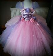 Luxury Sparkle Fairytale Princess Tutu Dress Rapunzel Belle Minnie Unicorn Ariel