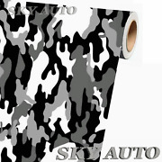 Black White Gray Camo Camouflage Vinyl Car Wrap Sheet +free Tools 2 Feet And Up
