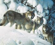 Carl Brenders Long Distance Hunters Wolves Giclee Canvas 85/195