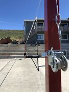 Volleyball Post System - Stainless Steel Cable, Powdercoated, Brass Pulley