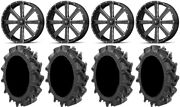 Msa Milled Flash 22 Utv Wheels 35 Motohavok Tires Can-am Commander Maverick