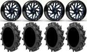 Fuel Triton Blue 22 Wheels 35 Motohavok Tires Polaris Rzr Turbo S/rs1