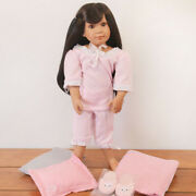 Roxie Bedtime Set - 18 Medium Skin Tone Vinyl Jointed Doll By Kidz And039nand039 Cats