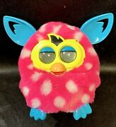 Furby Boom Plush Electronic Toy Hot Pink With White Polka Dots 2012 Hasbro