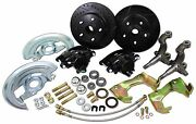 1964-72 Pontiac Gto Total Black Out Front Stock Spindle Disc Brake Kit