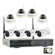 8 Channel Cctv Surveillance Wireless Home Security Camera System With 1tb Hdd Us