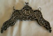 Antique 800 Silver Open Work Figural Purse Frame W/ Woman And Cupid - 134 Grams