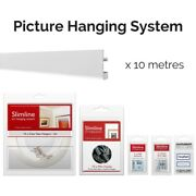 Picture Hanging System Bundle - Covers 10m 32 1/2ft Of Gallery Space