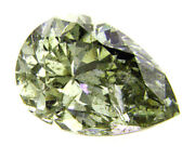 Natural Loose Diamond 0.42ct Gia Certified Fancy Chameleon Green Color Pear Cut