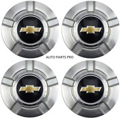 4pcs.18 Inch Chevy 6 Lug Machined Aluminum Center Caps Hubcaps Wheel Cover 07-13