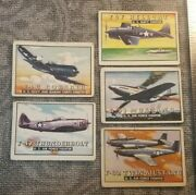 Vintage 1950's Lot Of 5 T.c.g. Plane Trading Cards Trading Cards  88c