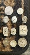 Vintage Lot Of 10 Bulova Watch Faces And Parts 1940s 87c