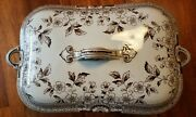 Antique A.f. And Co. Foley Pattern Vegetable Dish Staffordshire Great Condition.