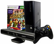 Refurbished Microsoft Xbox 360 E 4gb Console With Kinect Sensor And Adventures