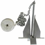 Danforth Style 8.5 Lb Deluxe Fluke Anchor Kit W Chain And Line For 15 - 24 Boat