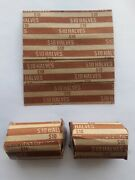 75 - Half Dollar Flat Coin Wrappers - Paper Tubes 50 Fifty Cent Pieces Halves