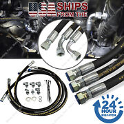 Duramax Transmission Cooler Lines Hoses Kit For 06-10 Chevy / Gmc 6.6l W/allison