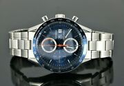 Tag Heuer 40th Anniversary Stainless Steel Blue Dial Carrera Calibre 16 Cv2015