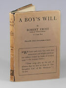 Robert Frost - A Boyand039s Will First U.s. Edition First State In Dust Jacket