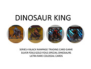 Dinosaur King Black Rampage Trading Cards Foils And Ultra Rare Colossals