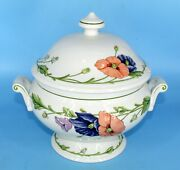 New Villeroy And Boch Amapola 1748 Covered Vegetable Tureen 3.25 Qt Soup Bowl Lg