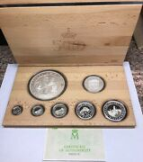 1992 Spain 500th Anniversary Discovery Of The Americas 7 Coin Silver Pesetas Set