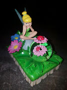 Extremely Rare Walt Disney Peter Pan Tinkerbell Small Snowglobe Figurine Statue