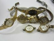 7 Vintage And Retro Ladies Wrist Watches For Parts- Timex Benrus Elgin