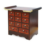 Night Table_telephone Table_asian Antique Medicine Storage Drawer Style