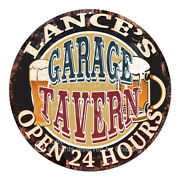 Cpgt-0245 Lanceand039s Garage Tavern Sign Fatherand039s Day Birthday Gift Idea For Man