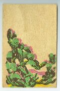Vintage Made Out Of Yucca Wood Postcard, Wood Of Moods And Legends