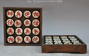 8collect Collector's Edition Beijing 2008 Olympic Games Bone Wood Chinese Chess