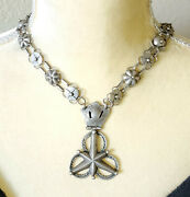 Antique Ethiopian Very Rare Star Shaped Pendant Silver Necklace
