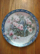 1992 First Issue Roses Lena Liu's Basket Bouquets Collectible Plate