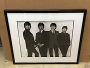 Beatles Rare-le Numbered Black And White Beatles Group Photo Framed 40/5000