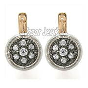 Russian Style Diamond Earrings 14k Rose And White Gold 1.34 Cwt E945 Free Shipping