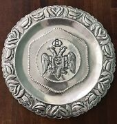 Antique Double Eagle Sterling Silver 925 Charger Platter 10.5 Peru