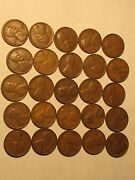 Roll 1936 D Lincoln Wheat Cents Penny In Good Or Better Condition 50 Coins