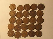 Roll 1919 D Lincoln Wheat Cents Penny In Good Or Better Condition 50 Coins