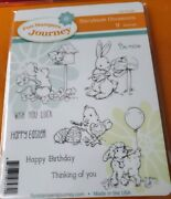 Fun Stampers Storybook Occasions Rubber Stamp Set Valentines Day Easter Birthday